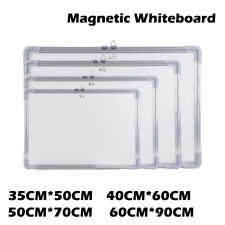 Double-sided Magnetic Whiteboard Dry Erase Writings Drawing Board - Various Size