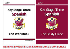 KS3 SPANISH STUDY GUIDE & WORKBOOK WITH ANSWER 2 BOOKS IN 1 FUN BUNDLE