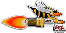 "(SKID-5R) RIGHT 12"" SKIDOO SKI-DOO SNOWMOBILE REV SPARK PLUG BEE DECAL STICKER"