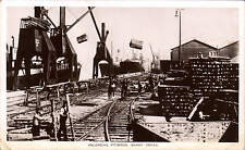 Barry Docks. Unloading Pitwood in W.H.S/. & S. Strand Series, C.