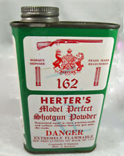 empty used can Scotland Herter'S shotgun powder for display 9 ounce can