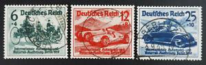 1939 Deutsches Reich; Serie IAA  gestempelt, MiNr. 686/88, ME 17,-