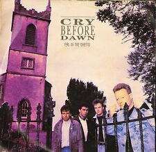 """CRY BEFORE DAWN girl in the ghetto/tender years WEX 1 uk epic 1987 7"""" PS EX/VG"""