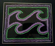 Vintage Billabong Purple Green Black 4.5x5.5 early 90s Surf Skate Sticker Decal