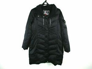 ZeroXposur Snow Ski Zip Puffer Jacket Coat Women L Black Down Filled No Hood