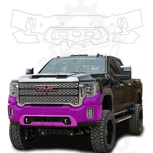 Paint Protection Film Clear PPF for GMC Sierra 3500HD Denali 2020 Front Bumper