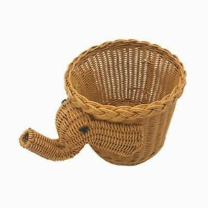 Handmade Bamboo Elephant Wicker Picnic Basket Food Bread Camping Picnic Basket