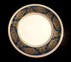 Beautiful Wedgwood Columbia Blue And Gold Salad Plate