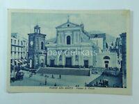 TORRE DEL GRECO Piazza S. Croce animata Napoli vecchia cartolina bis