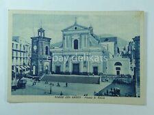 TORRE DEL GRECO Piazza S. Croce animata Napoli vecchia cartolina