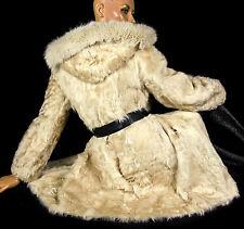 S CHEKIANG Lammfellmantel Lammfell Kapuze Fuchs Sheepskin fur lamb coat hood fo