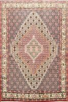 Traditional Geometric Bidjar Wool Area Rug Hand-Knotted Oriental Carpet 4'X5'