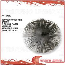SCOVOLO TONDO ROTONDO IN ACCIAIO PER CAMINO-CANNE FUMARIE DIAMETRO 20CM ART24862