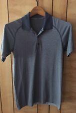 Ω LULULEMON•Metal Vent Tech SS Shirt•grey;Blue Stripe•Men's X-small•(L@@K!)