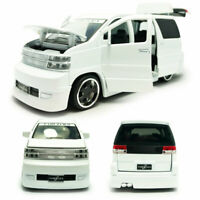 Nissan Elgrand MPV 1:32 Model Car Diecast Toy Vehicle Kids Collection Gift White