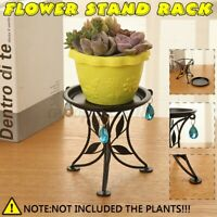 Flower Stand Plant Rack Shelf Balcony Indoor Floor Pot Display Home Decor Metal