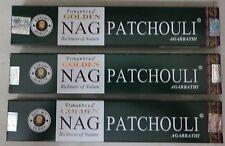 VIJAYSHREE GOLDEN NAG PATCHOULI INCENSE Sticks GLOBAL 12x 15g Box