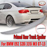 For 07-13 BMW E92 328i 335i M3 Performance Rear High Kick Trunk Spoiler Wing !
