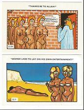 2 X Comic Seaside Postcards By Coastal Colour, #a5