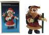 "Disney Mickey Mouse Santa Figurine 8"" Fabric Mache Kurt Adler Vintage HTF W/ Box"