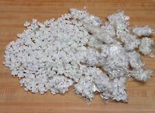 "Wholesale Lot 588 Miniature 1"" White Glittery Plastic Angels Christmas Ornaments"