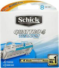 Schick Quattro 4 Titanium 8 Refills Razor Blades Set