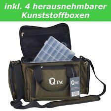 Q-TAC XC1 Angeltasche, Karpfentasche, mit 4 herausnehmbaren Kunststoff - Boxen