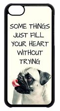 Cute Pug Puppy Dog Paws Quote Saying Back Skin Case Cover For Apple iPod 4 5 6