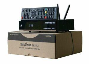 2019 ZGEMMA H9 Twin 4K TV BOX built-in 2*CI+ IPTV STALKER Satelittle 2S 2xDVB-S
