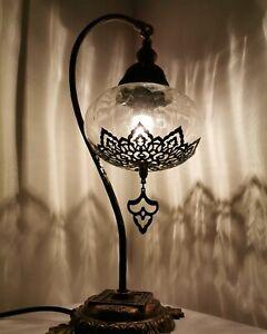 Bohemian Turkish Moroccan Style Hand Blown Ottoman Lamp Desk Table Lamp