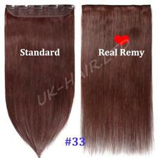 AAA+ One Piece Clip In Remy Real Human Hair Extension 3/4 Full Head US Sale I280