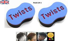 Magic Barber Twists Original Sponge Foam Hair Brush for Dread Loc Afro Coil Curl