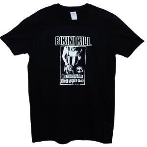 Bikini Kill Revolution Riot Grrrl Punk Rock Music T shirt Classic Fit Black Tee