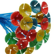 O 50pcs Decoration Plastic Wedding Balloon Holder Stick + Balloon Cup Tray Party