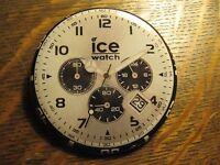 Ice Chrono Black Big Wristwatch Watch Logo Advertisement Lapel Hat Button Pin