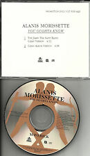 ALANIS MORISSETTE You Oughta Know JIMMY THE SAINT EDIT& CLEAN PROMO DJ CD single