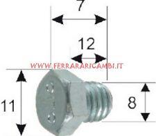 121856070 TAPPO SCARICO OLIO MOTORE PIAGGIO-GILERA 50/125/150/200 SCOOTER/APE