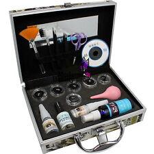 Pro False Eye Lash Eyelash Extension Glue Brush Full Set  With Case A-153 New
