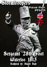 Stormtroopers bust 28th Foot Sergeant Waterloo 1815 Unpainted kit 1/9th