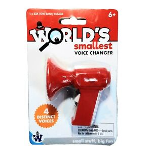 Worlds Smallest Voice Changer Red by Westminster 4 Different Voices Talking Toy