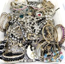 Tangled & Broken Jewelry Lot Rhinestone Art Craft Repair Repurpose Upcycle LBS