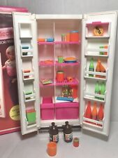 Barbie Dream Furniture Collection Refrigerator accessories included and box 2473