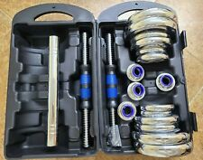Adjustable 44LB Chrome Dumbbell Weight Barbell Lifting Set 1 DAY QUICK FREE SHIP