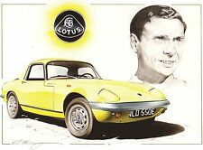 Lotus Elan 1967 S3 SE Jim Clark Large Greeting Card art Christopher Dugan