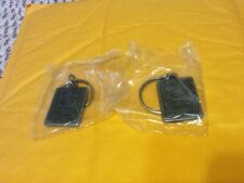 Lot of 2 Jack Daniels Tennessee Whiskey Keychains!!! New in sealed bags!!!!!