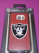 NEW NFL Oakland Raiders Pebble Grain Feel Case Phone Samsung G S6 NWT