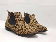 Sole Diva Leopard Print Ankle Boots Size 4 E
