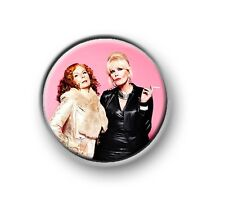 """AB FAB / 1"""" / 25mm pin button / badge / funny / British / comedy / TV series"""