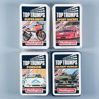 Waddingtons Top Trumps Super Bikes / Porsche / Sport Racers / Military Vehicles