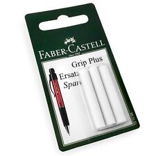 Faber-Castell Grip Plus Eraser Rubber Refills - White - Blister Pack of 3